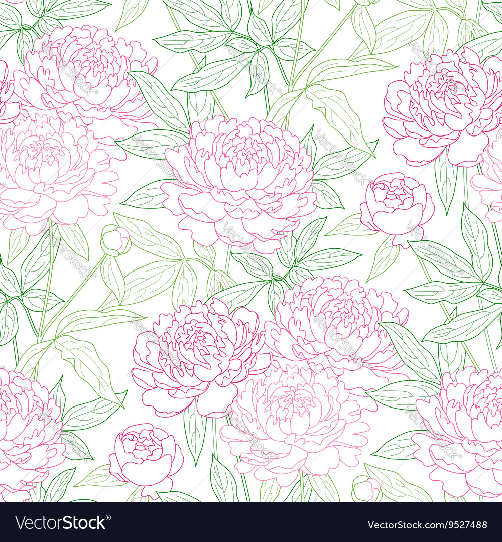 Peon pattern outline vector