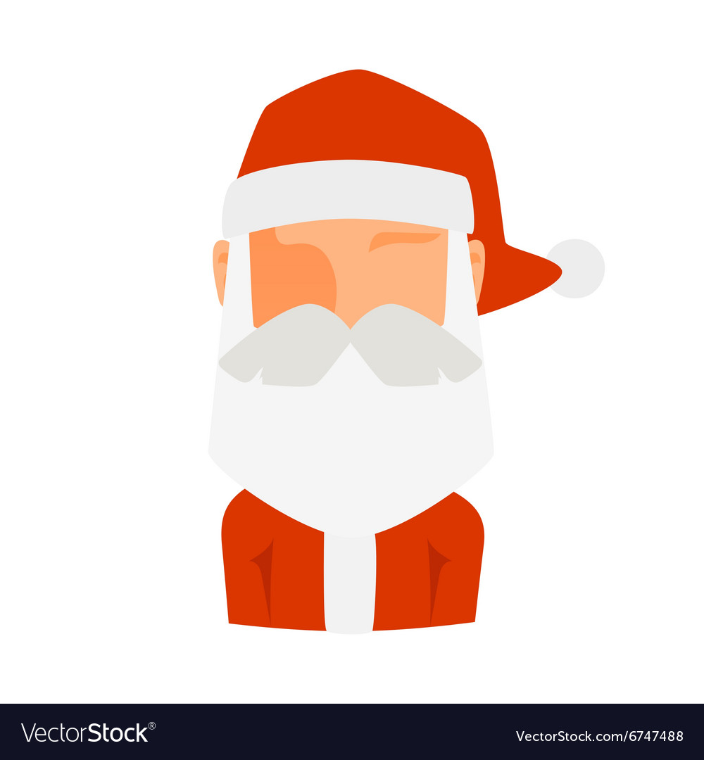 Santa claus flat icon avatar vector