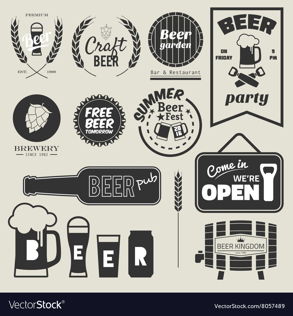 Beer badges vector