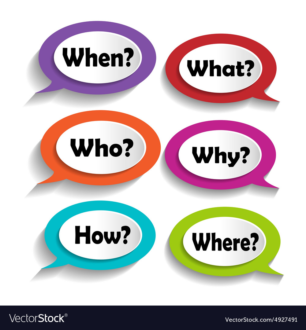 Icons with questions vector