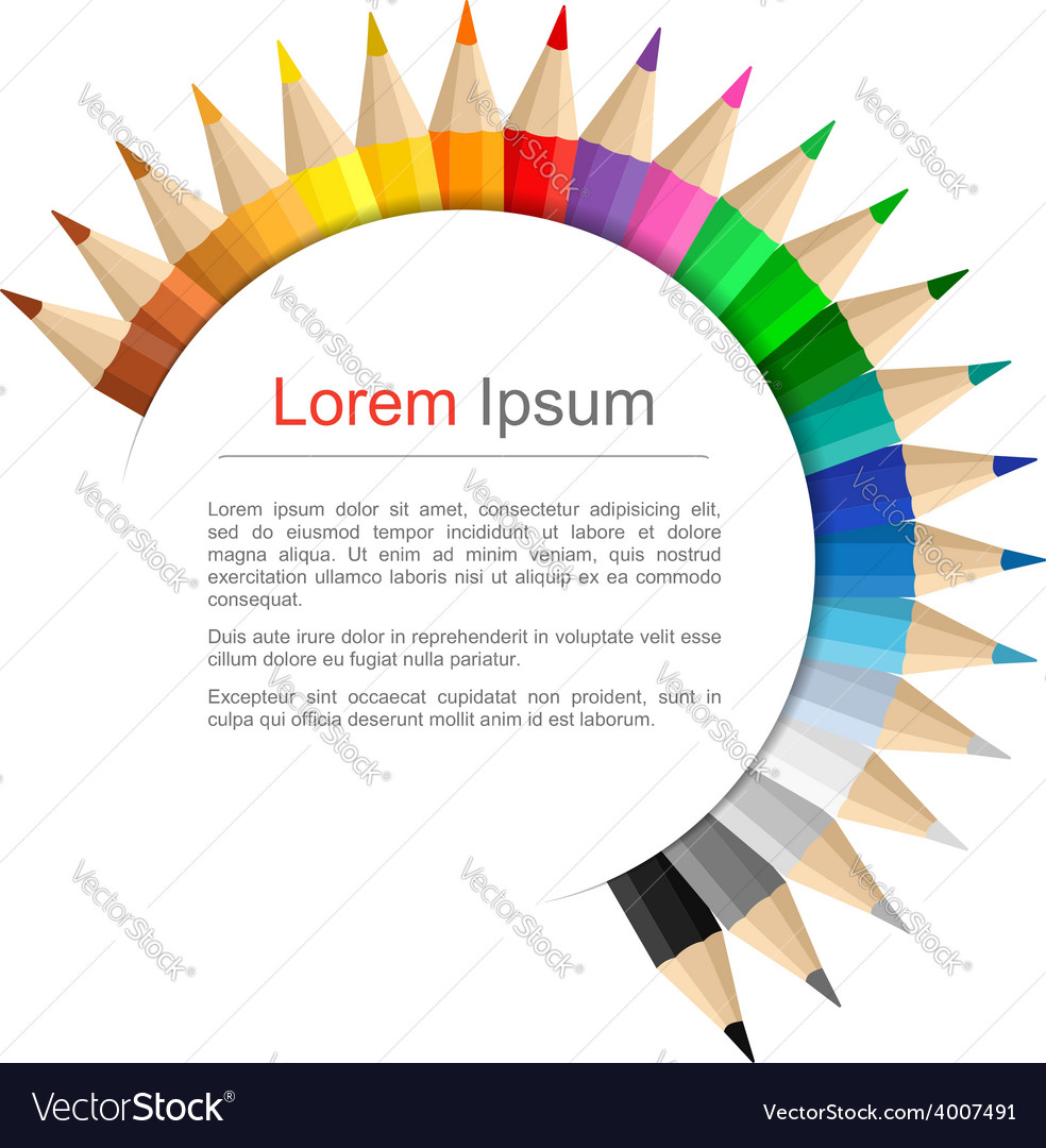 Round education banner vector