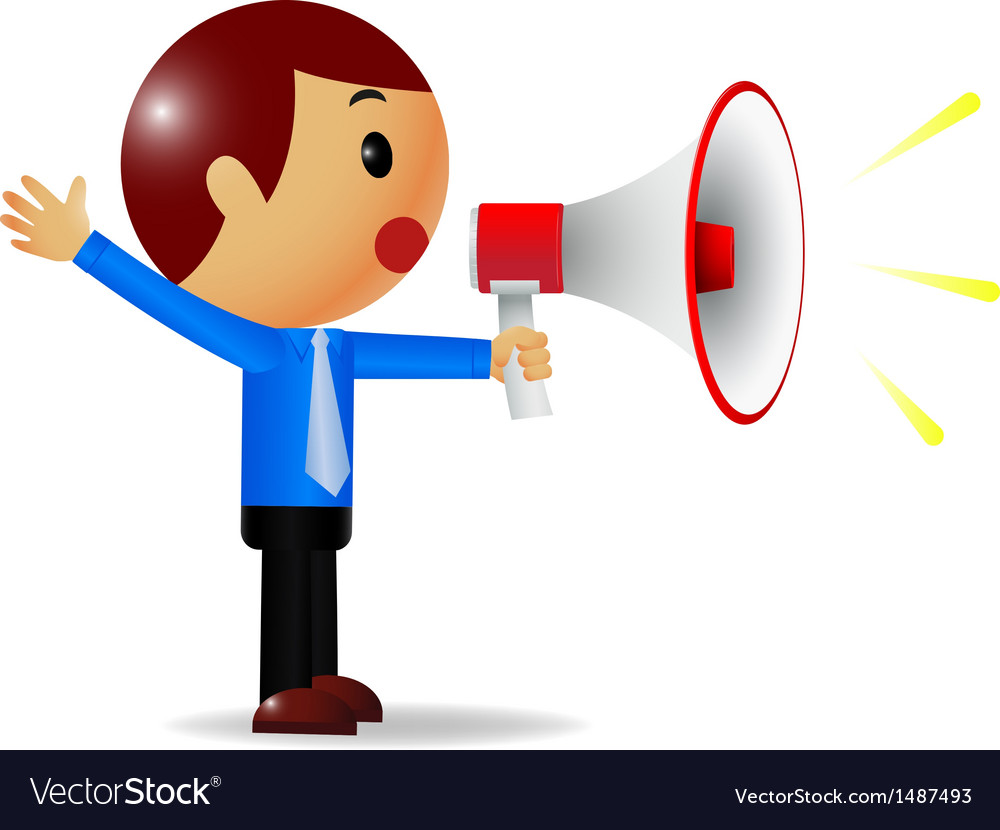 Man with megaphone vector