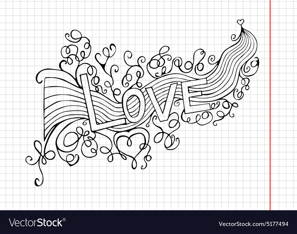 Heart birth love with rainbow handdrawn vector