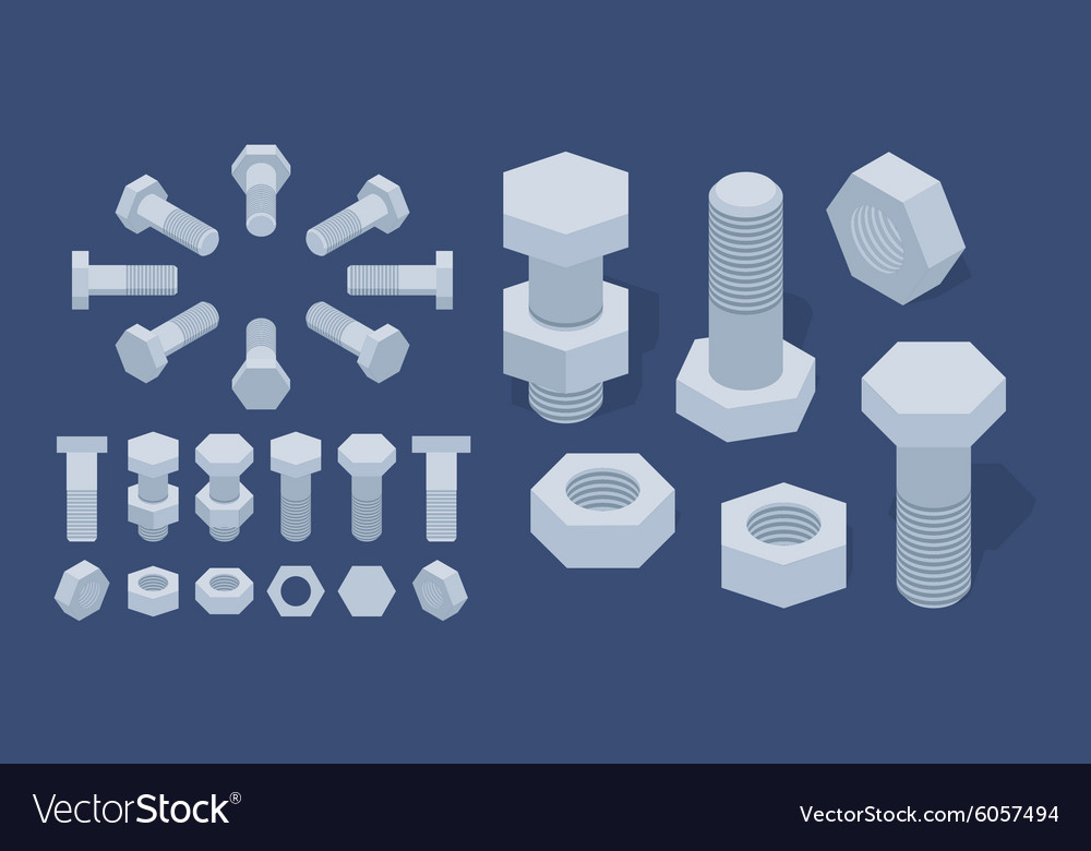 Screwnuts and bolts vector