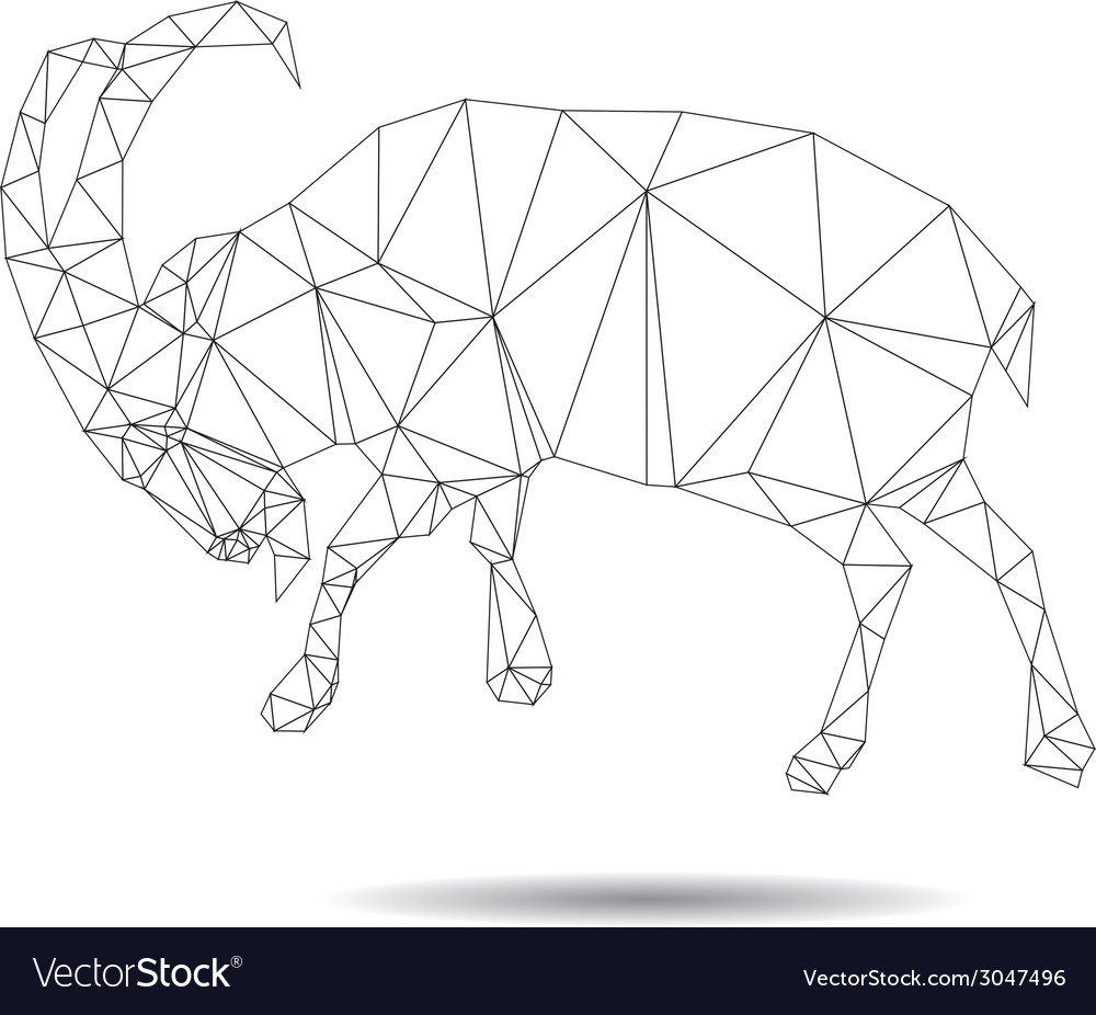 Abstract goat vector