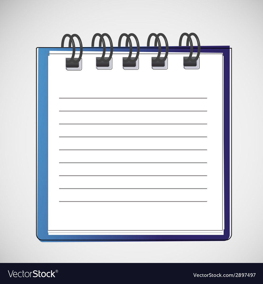 Notebook on a spring with clean sheets vector