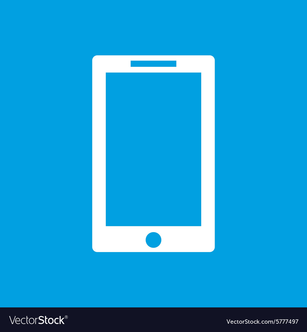 Tablet icon on blue vector