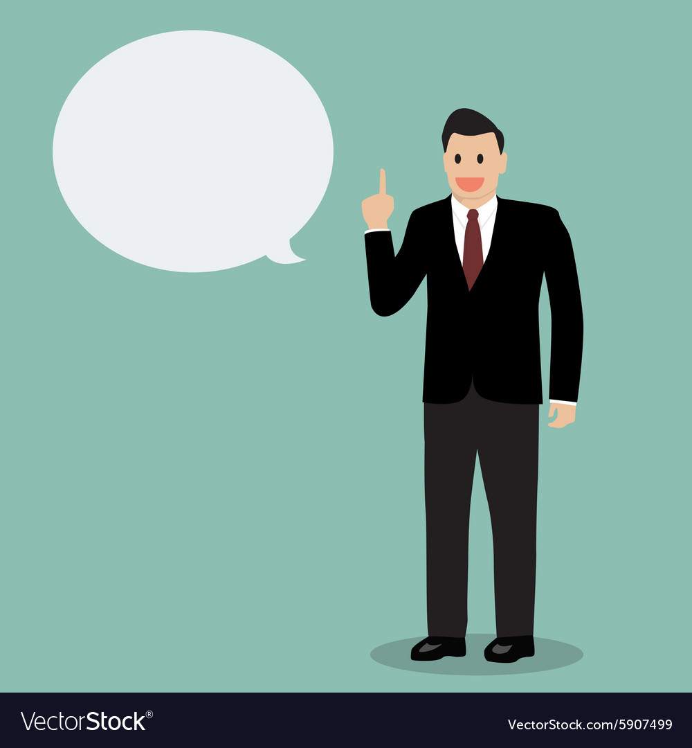 Businessman talking vector