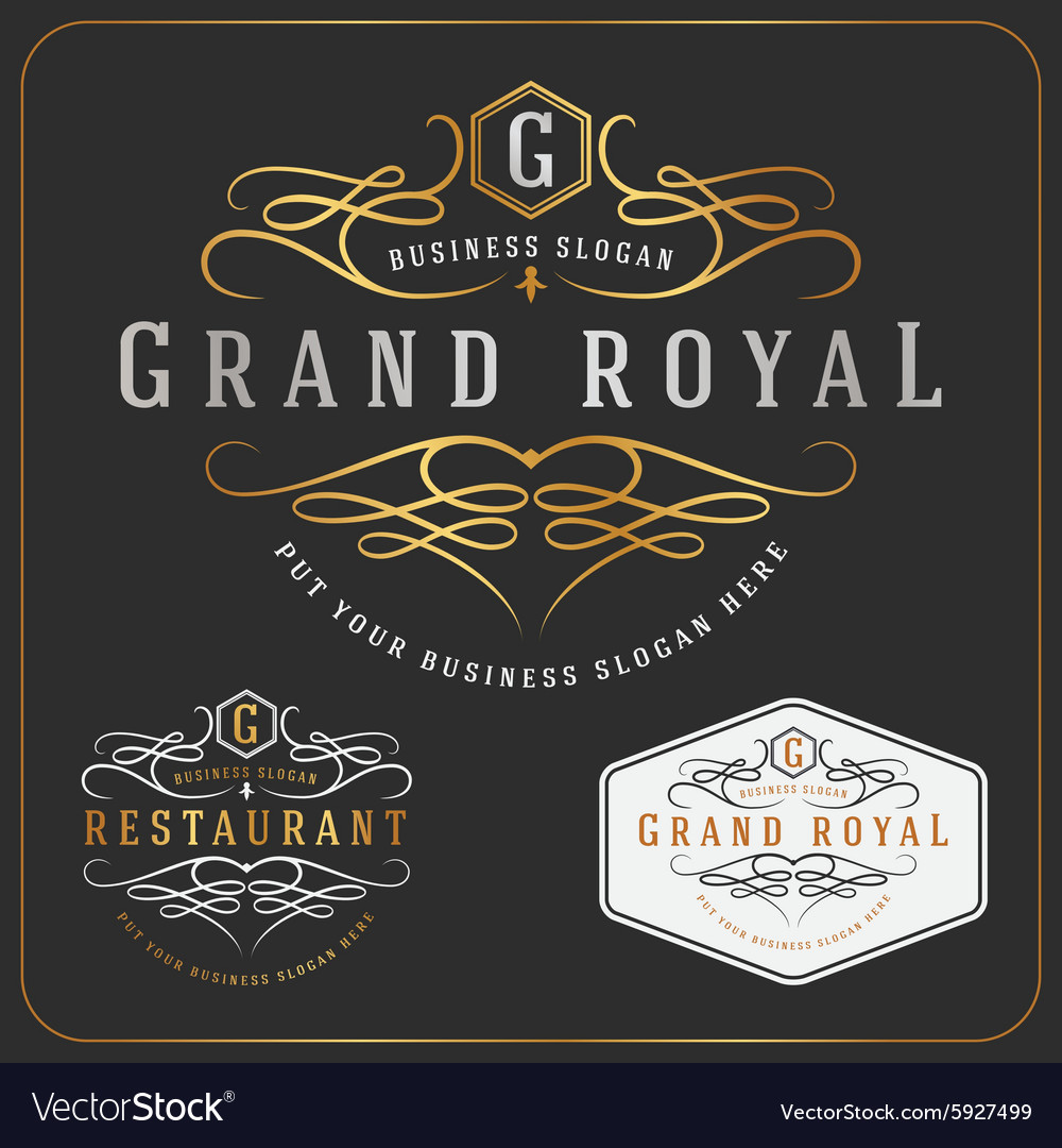 Luxurious royal logo resizable design vector