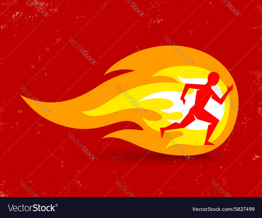 Running fire vector
