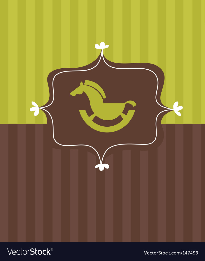 Toy horse frame vector