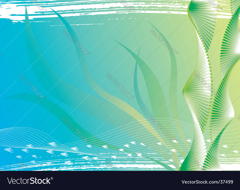 Under water and seaweed vector
