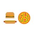 Hamburger and pizza fast food vector image