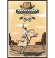 Vintage Rodeo Show Poster vector image
