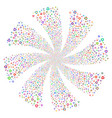 recycle arrows fireworks swirl flower vector image