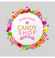 candy shop banner vector image vector image