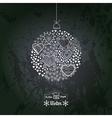 ornate christmas ball made of hearts Romantic vector image