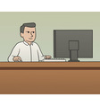 White collar worker vector image