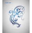 Water spash shape vector image vector image