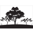 Silhouettes of big tree vector image