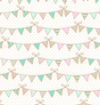 Background with garlands of flags for Childrens vector image