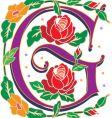 rosette letter G vector image vector image