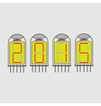 color icon set with radio tubes vector image