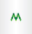 green leaves letter m logotype symbol vector image