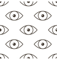 Monochrome human eyes seamless pattern back vector image