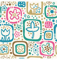 seamless floral pattern summer template vector image