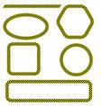 set of different danger tape frames vector image