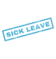 Sick Leave Rubber Stamp vector image