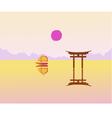 landscape East sunrise vector image vector image