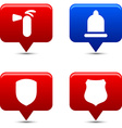 Safety buttons vector image