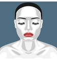 Fashion Beauty Female Model with white Skin vector image
