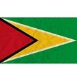 Guyana paper flag vector image
