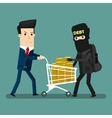Businessman get robbery by business hands vector image