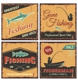 Fishing Vintage Style Concept vector image