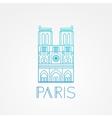 Notre Dame de Paris Cathedral France Hand vector image