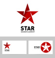 abstract creative business card with original star vector image