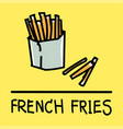 french fries hand-drawn style vector image