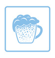 Mug of beer icon vector image