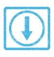 Down Rounded Arrow Icon Rubber Stamp vector image