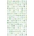 set of go green logo vector image