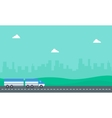 container truck on the road vector image
