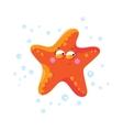 Cute starfish cartoon T-Shirt design for children vector image
