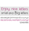 alphabet letters set vector image