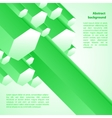Cristal green ice background vector image