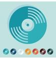 Flat design vinyl record vector image