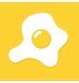 flat omelette egg icon vector image